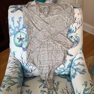 Hollister Marled Grey Bodysuit